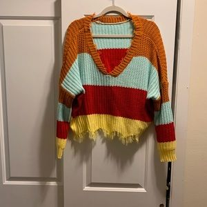 Shein Distressed Sweater